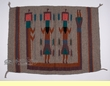 "Zapotec Tapestry Wall Hanging 30""x 40"" -Kachinas (t7)"