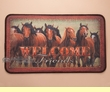 Horses Western Door Mat 18x30  -Welcome Friends