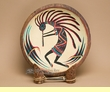 "Rustic Hand Painted Wooden Bowl 11.5"" -Kokopelli"