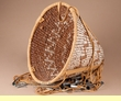 "Native American Apache Burden Basket 14""x10"" (b69)"