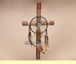 "Southwest Tarahumara Dreamcatcher Cross 13"" (9)"