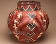 Pueblo Indian Style Olla Basket 23x22 (a58)