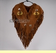 Indian Style Fringed Chaleco Dance Shirt - Buffalo  (c4)