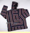 Soft Woven Baja Shirt Hoodie - Blue & Brown - Extra Large