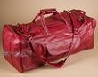 "Hand Made Leather Duffle Bag 22"" -Red  (db15)"