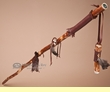 "Tigua Walking Stick & Whistle Medicine Staff 54"" -Brown  (ws1)"