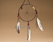 "Native American Dream Catcher 6"" -Black  (6-44)"