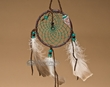 "Native American Dream Catcher 4"" -Green  (6-48)"