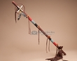 "Large Tigua Indian Medicine Dance Stick 36""  (7a)"