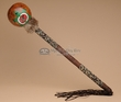"Native American Creek Indian Gourd Rattle 18"" -Turtle (r122)"