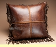 Western Designer Faux Leather Pillow 18x18  (wp23)