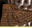 "Faux Leather Designer Southwest Throw 50""x60"" -Cascade Lodge"