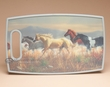 Western Cutting Board 14.5x9 -Running Horses  (cb2)