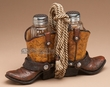 Western Salt & Pepper Shakers -Cowboy Boots & Rope