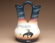 "Native American Navajo Wedding Vase 12.5"" -End of Trail  (80)"