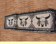 "Cotton Southwestern Table Runner 13"" x 72"" -Buffalo Skull"