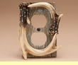 Faux Deer Antler Outlet Cover  (aa36)