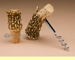 Rustic Faux Antler Cork Screw & Bottle Topper Set   (aa33)