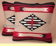 Pair Indian Style Tapestry Pillow Covers 18x18 -Yaqui Style