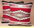 Pair Southwest Wool Pillow Covers 18x18 -Acoma Pattern