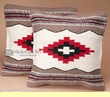 Pair Southwest Indian Pillow Cover 18x18 -Papago Style