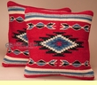 Pair Western Wool Pillow Covers 18x18 -Navajo Pattern