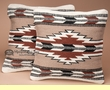 Pair Western Wool Pillow Covers 18x18 -Pueblo Pattern