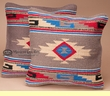 Pair Native Design Pillow Covers 18x18 -Tigua Pattern