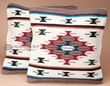 Pair Southwest Style Pillow Covers 18x18 -Sandia Pattern