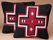 Pair Southwest Indian Style Pillow Covers 18x18 -Cross