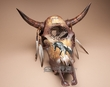 "Dreamcatcher Steer Skull 18.5""x20"" -Painted Horse  (ps93)"