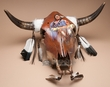 Hand Painted Steer Skull 23.5x18.5  -Chief  (ps80)