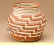 Hand Woven Olla Style Palm Basket 6.5x6  (mp3)