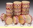 20 Mini-Drum Keychains -Wholesale Lot