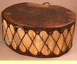 "Native Cottonwood Log Drum Table 35""x16"""