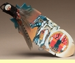 Native American Painted Cedar Feather -Warrior Brother