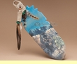Native American Painted Cedar Feather -Coming Home