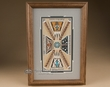 "Oak Framed Navajo Sand Painting 10""x14""  (sp22)"