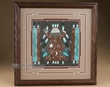 "Native American Navajo Sand Painting 14"" (sp19)"