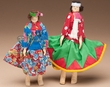 "Tarahumara Indian Carved Wooden Dolls 7"" (d4)"