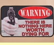 "Southwestern Door Mat 18""x30"" -Warning  (dm21)"