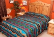 Southwest Decor Bedspread -Jemez Pattern KING