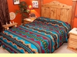 Southwest Decor Bedspread -Jemez Pattern QUEEN
