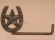 Western Iron Art Horse Shoe Toilet Paper Holder Wall Rack