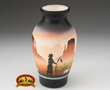 "Native American Navajo Pottery Vase 6"" -Monuments  (v208)"