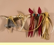 "Native American Red Ribbon Medicine Antler 28"" - Tigua"