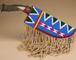 Vintage Beaded Sioux Sheath & Knife  (k34)