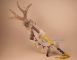 "Native American Beaded Antler Spirit Stick 33""  (s7)"