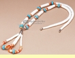 "American Indian Jewelry Necklace 23"" -Tigua"