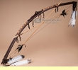 "Beaded Navajo Indian Peace Bow 44"" -Dk Brown   (b13)"